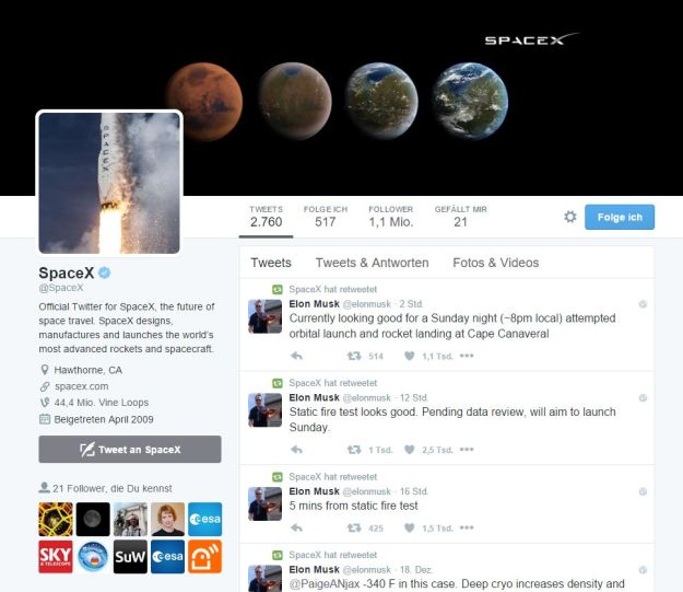SpaceX Twitter @SpaceX